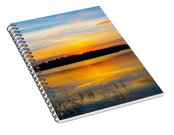 Sunset Over The Lake Spiral Notebook