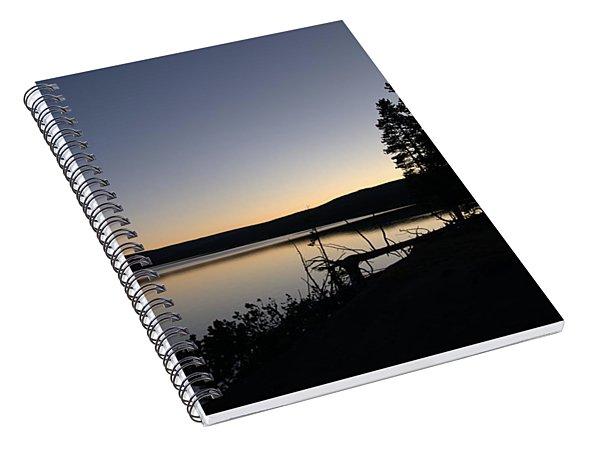 Sunset Over Yellowstone Lake Spiral Notebook