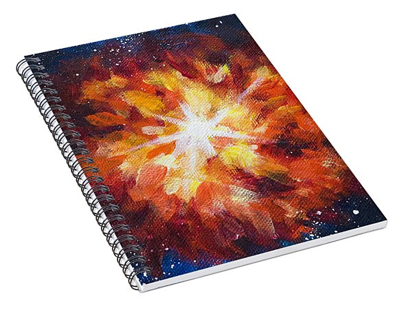 Supernova Explosion Spiral Notebook