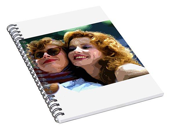 Susan Sarandon And Geena Davies Alias Thelma And Louis - Watercolor Spiral Notebook
