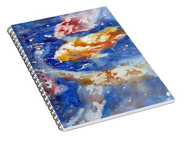 Swimming Koi Fish Spiral Notebook