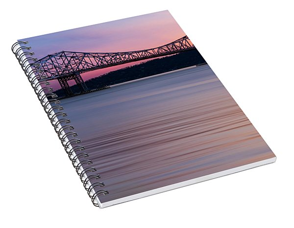 Tappan Zee Bridge Sunset Spiral Notebook