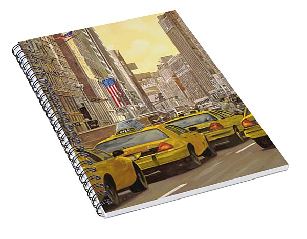taxi a New York Spiral Notebook