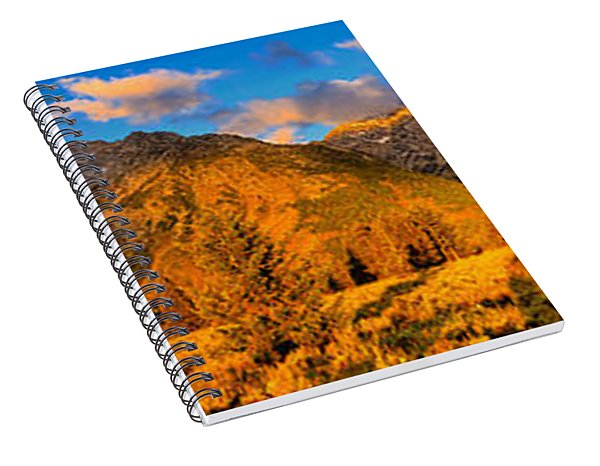 Spiral Notebook featuring the photograph Teton Mountain View Panorama by Greg Norrell