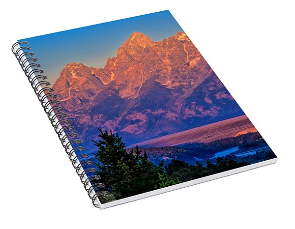 Spiral Notebook featuring the photograph Teton Peaks by Greg Norrell