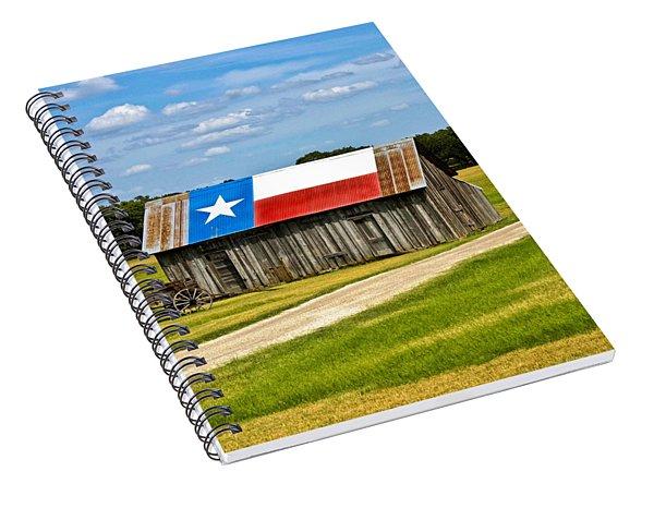 Texas Barn Flag Spiral Notebook