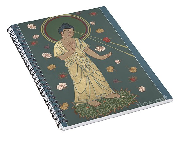 The Amitabha Buddha Descending 247 Spiral Notebook