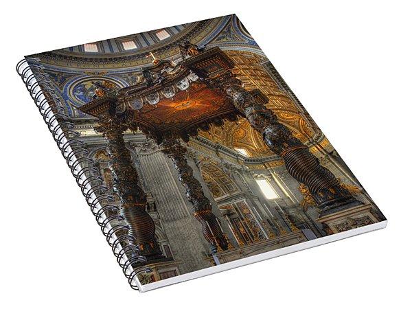 The Baldaccino Of Bernini Spiral Notebook