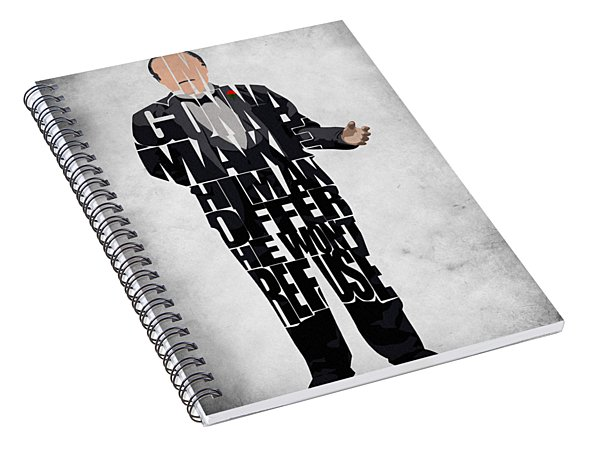 The Godfather Inspired Don Vito Corleone Typography Artwork Spiral Notebook