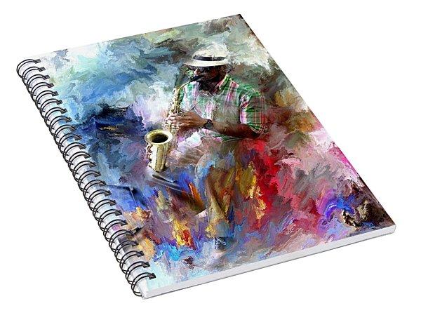 The Jazz Player Spiral Notebook