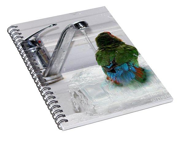 The Lovebird's Shower Spiral Notebook