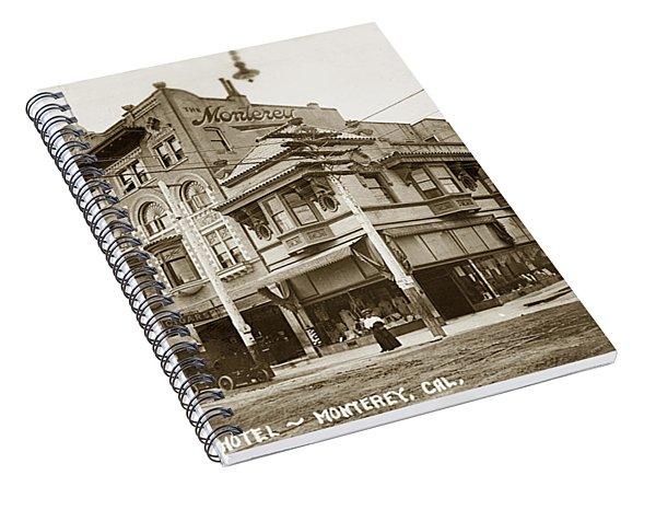 The Monterey Hotel 1904 The Goldstine Block Building 1906 Photo  Spiral Notebook