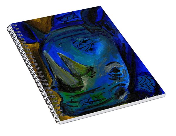 The Old Blue Rhino Spiral Notebook