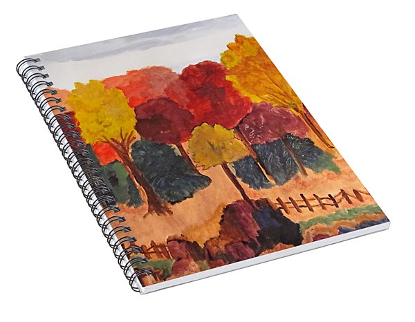 The Pasture In Autumn Spiral Notebook