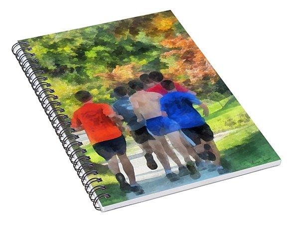 Track Practice Spiral Notebook