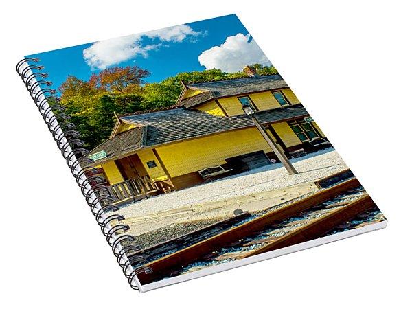 Train Station In Tuckahoe Spiral Notebook