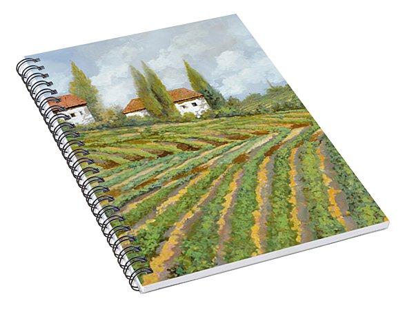 Tre Case Bianche Nella Vigna Spiral Notebook