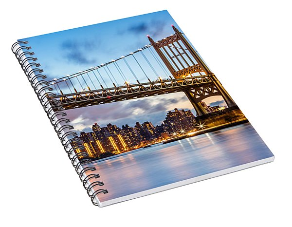 Triboro Bridge At Dusk Spiral Notebook