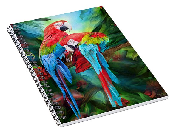 Tropic Spirits - Macaws Spiral Notebook