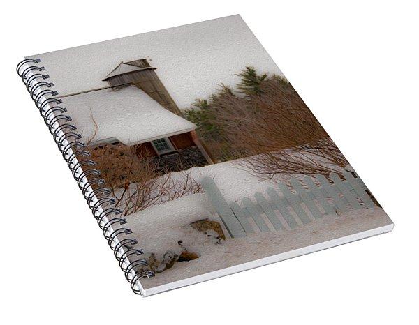 Tuftonboro Farm In Snow Spiral Notebook