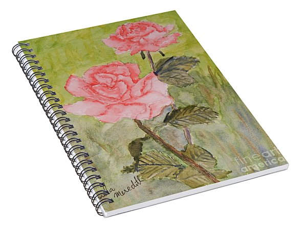 Two Pink Roses Spiral Notebook