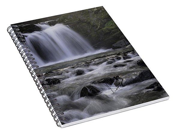 Upper Crystal Creek Falls  Spiral Notebook