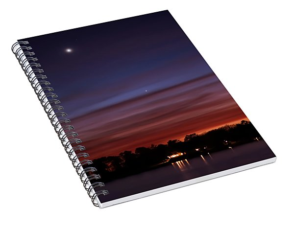 Venus And Mercury Spiral Notebook