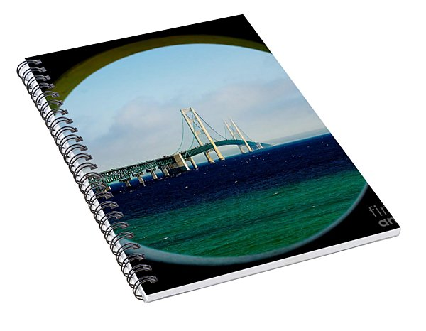View From The Mackinac Light Spiral Notebook