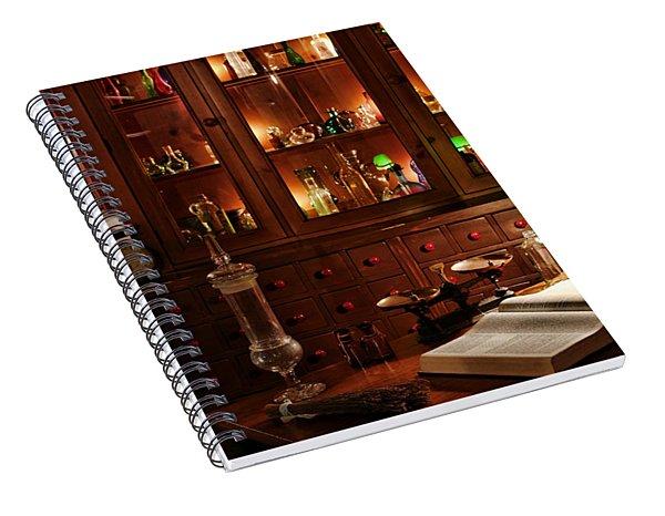 Vintage Apothecary Shop Spiral Notebook