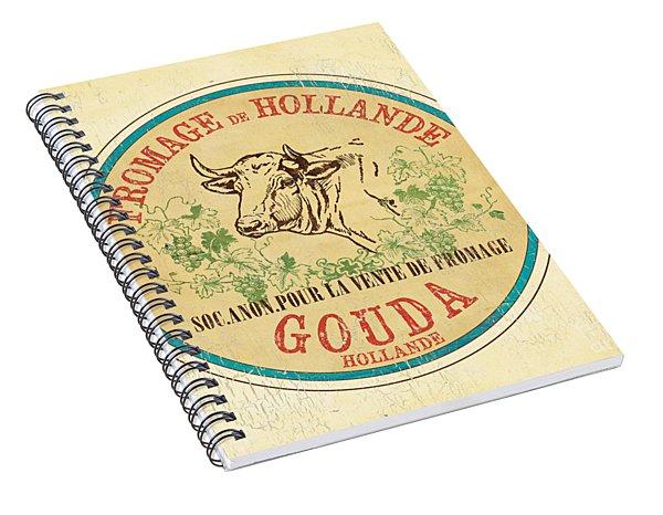 Vintage Cheese Label 1 Spiral Notebook