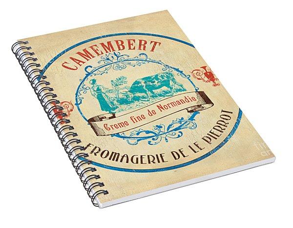Vintage Cheese Label 3 Spiral Notebook