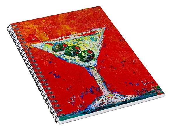 Vodka Martini Shaken Not Stirred - Martini Lovers - Modern Art Spiral Notebook