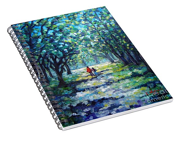 Walking In The Park Spiral Notebook