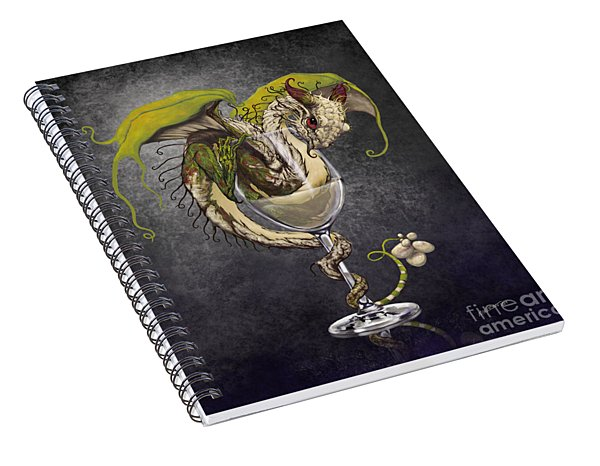 White Wine Dragon Spiral Notebook