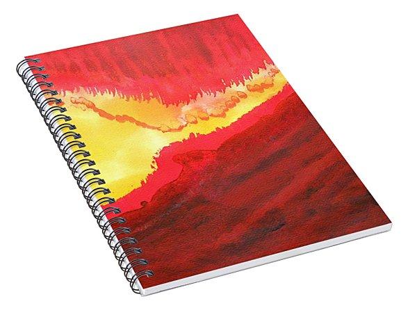 Wildfire Original Painting Spiral Notebook