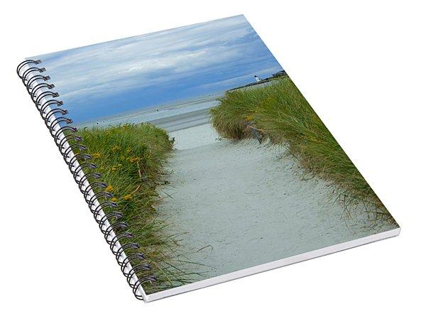 Wingaersheek Beach Path And Annisquam Lighthouse Spiral Notebook