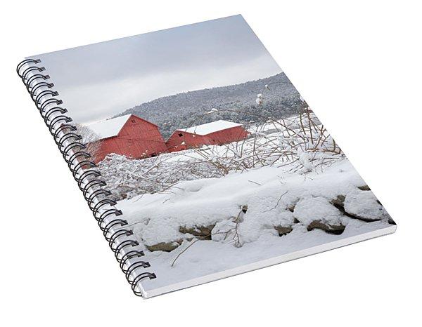 Winter In Connecticut Spiral Notebook