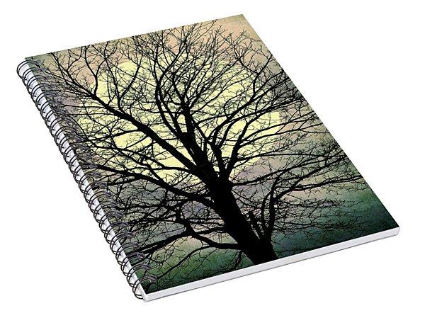 Winter Moon Silhouette Spiral Notebook