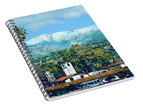 Winter Paradise Santa Barbara Spiral Notebook