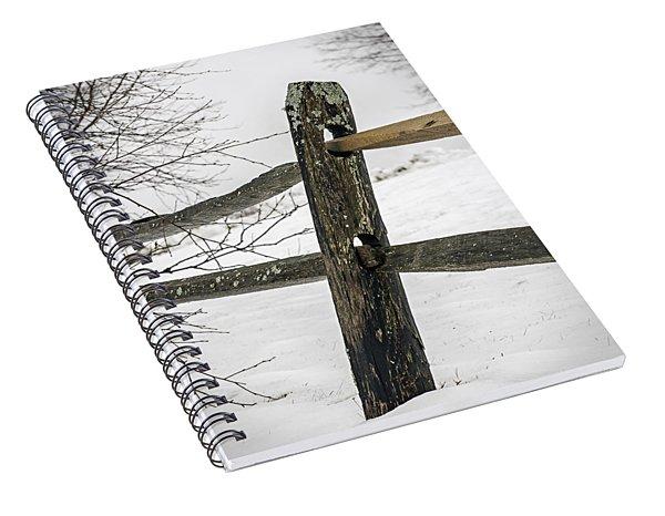 Winter Rail Fence Spiral Notebook