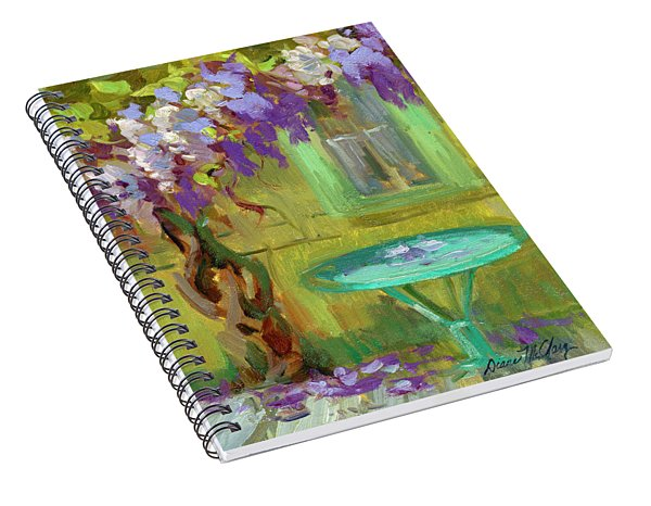 Wisteria At Hotel Baudy Spiral Notebook