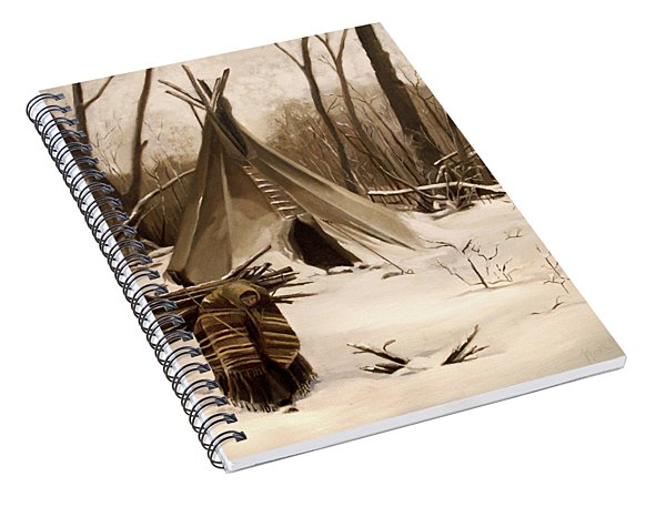 Wood Gatherer Spiral Notebook