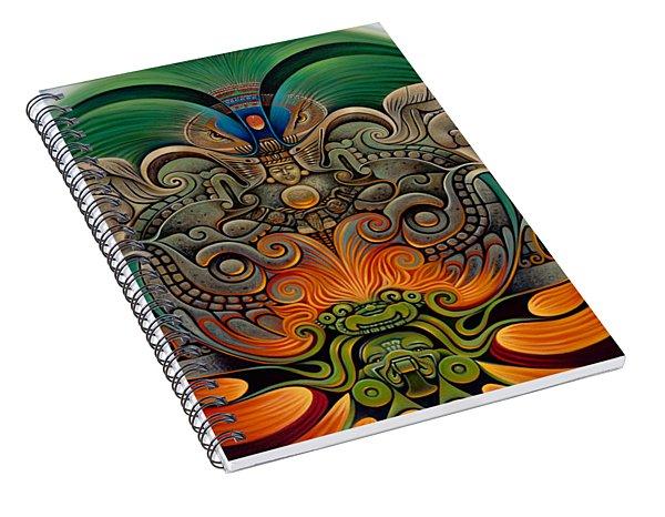Xiuhcoatl The Fire Serpent Spiral Notebook