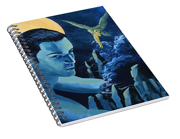 Yellow Moon Spiral Notebook