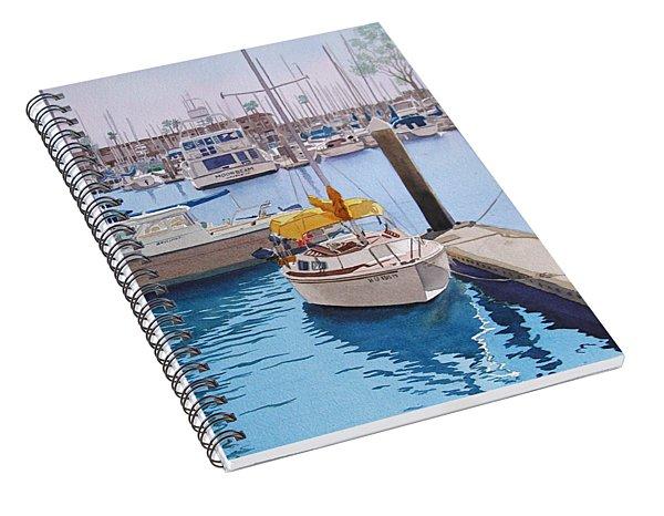 Yellow Sailboat Oceanside Spiral Notebook