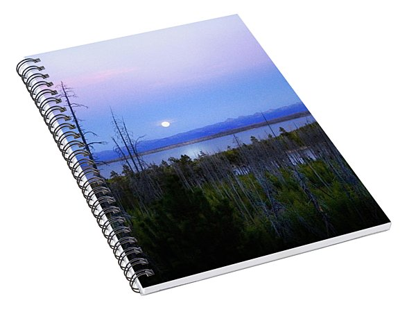 Yellowstone Moon Spiral Notebook