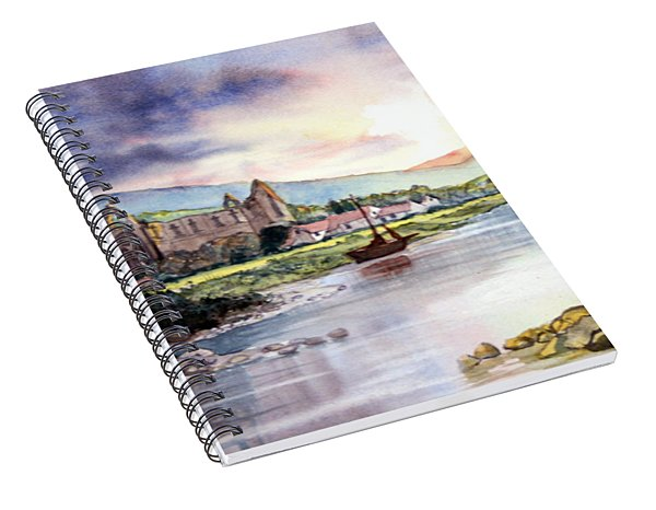Late Evening At Tintern Abbey Spiral Notebook