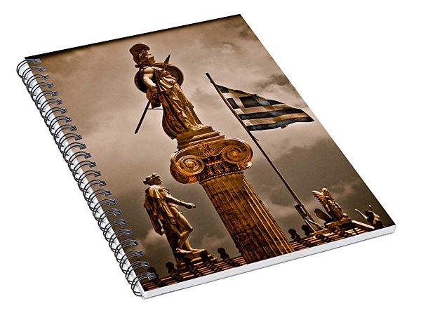 Athens, Greece - Athena Nike Spiral Notebook