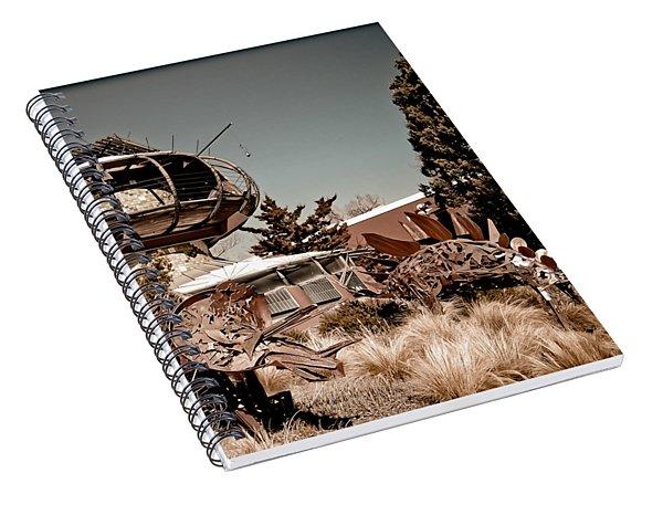 Albuquerque, New Mexico - Back To The Future Spiral Notebook