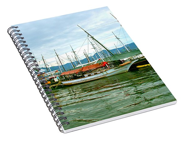 Boats At Paraty Brasil Spiral Notebook